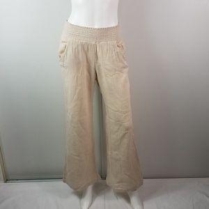 Billabong Pants Pull On Wide Leg Size L 2477